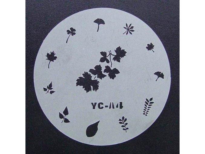 Airbrush šablona - list