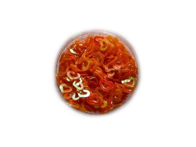 Zdobení nehtu srdíčka oranžové 100 kusů