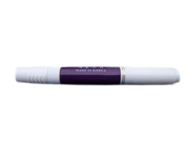 2v1 zdobící pero na nehty, fialové