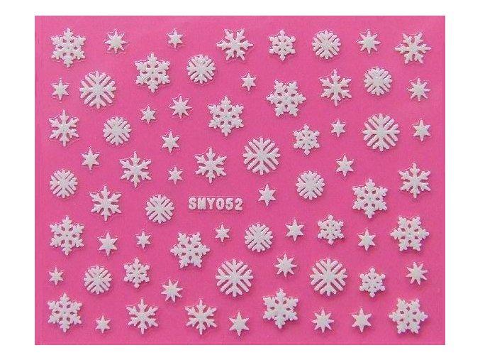 Vánoční nálepky - vločky 052