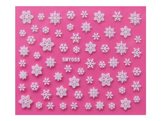 Vánoční nálepky - vločky 055