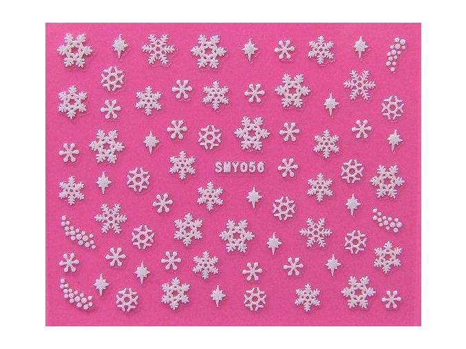 Vánoční nálepky - vločky 056