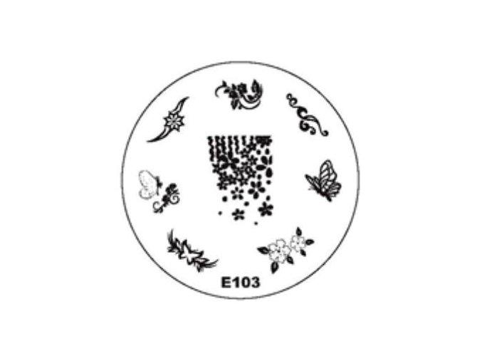 Destička na razítka E103