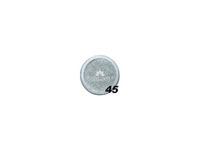 Barevný akryl, stříbrné třpytky