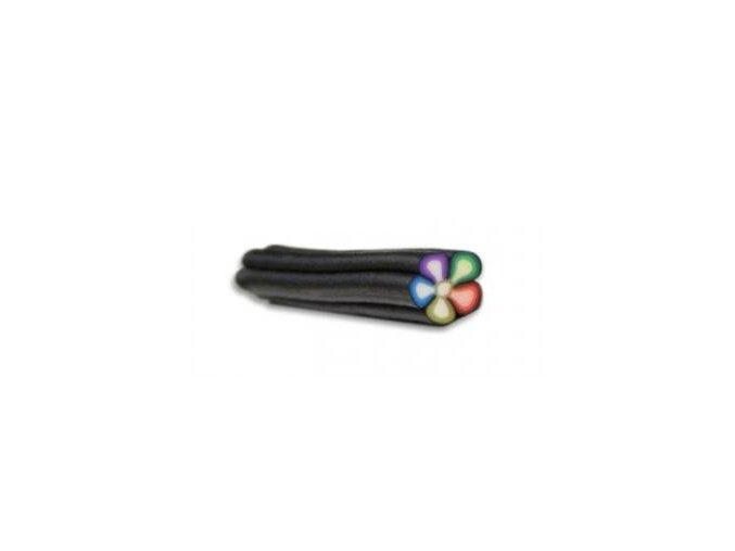 FIMO zdobení na nehty, barevná kytka