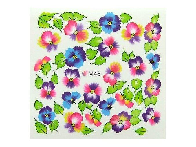 Vodolepky barevné květy M48