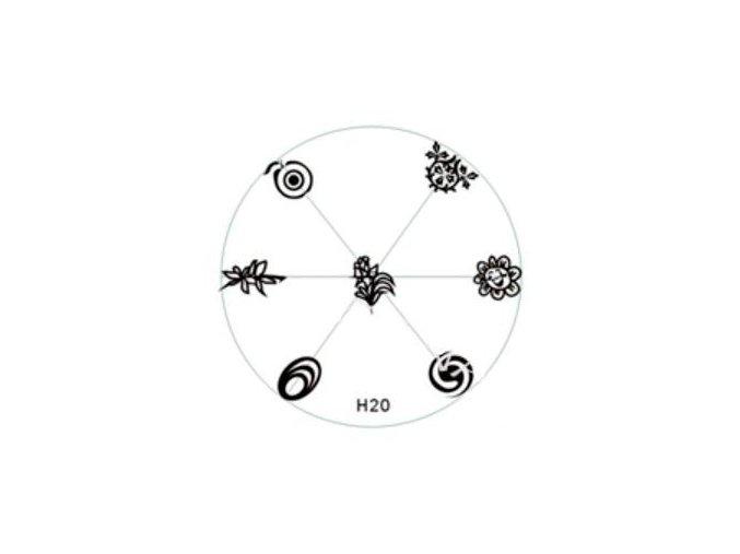 Destička na razítka H20
