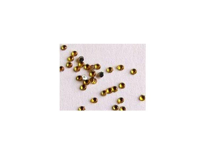 Zdobení nehtů kamínky žluté 50 kusů