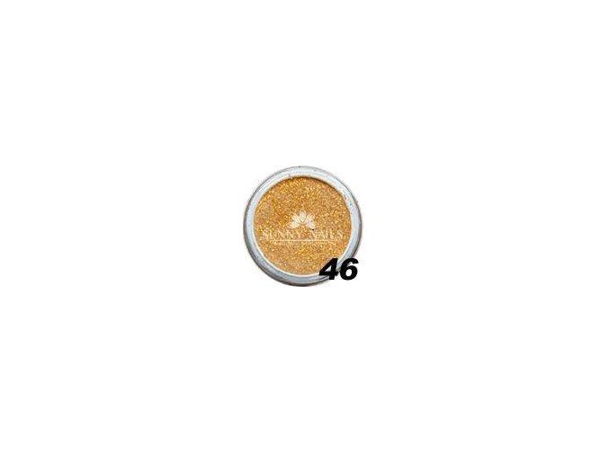 Barevný akryl, zlaté třpytky