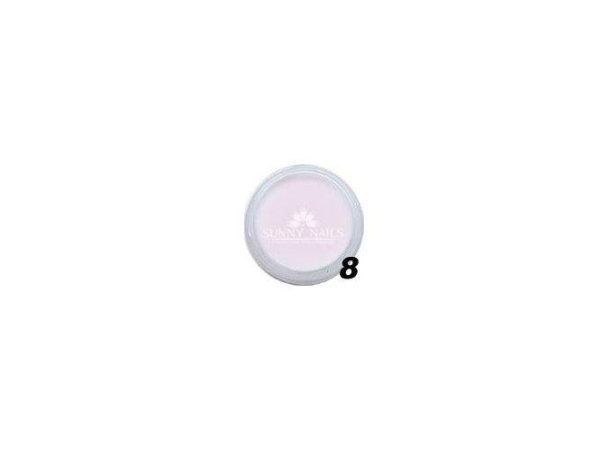 Barevný akryl, pastelově růžová