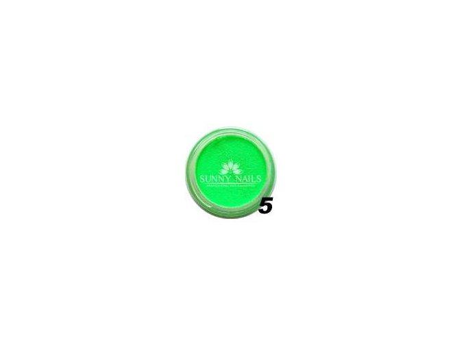 Barevný akryl, neon zelený
