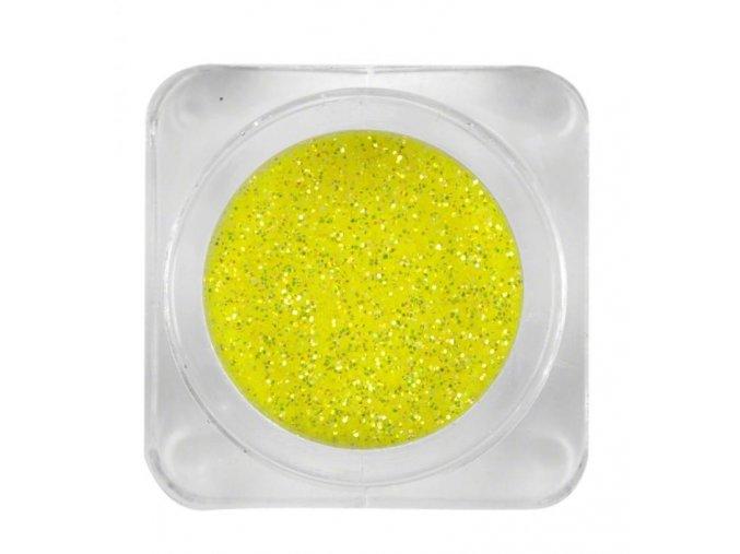 NEON žluté třpytky na nehty, 3g