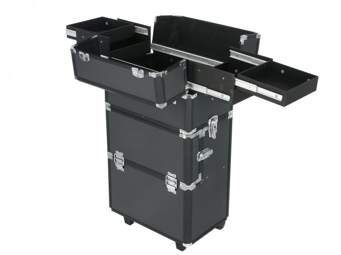 Kosmetický kufr na kolečkách - černý