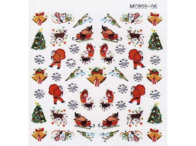 Vánoční nálepky MC06
