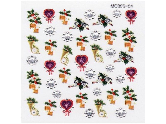 Vánoční nálepky MC04