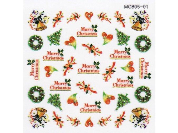 Vánoční nálepky MC01