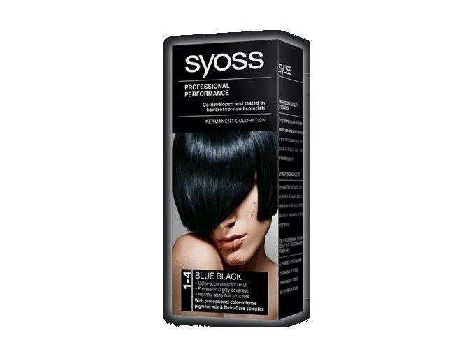 SYOSS barva na vlasy 1-4 Modročerný