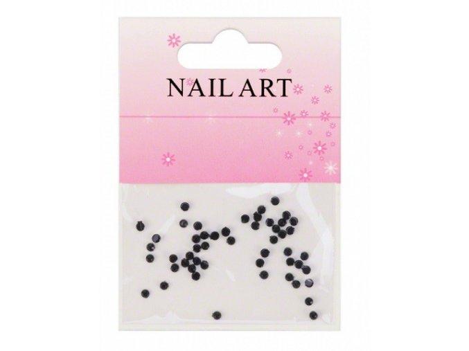 Kamínky na nehty, černé 50 kusů