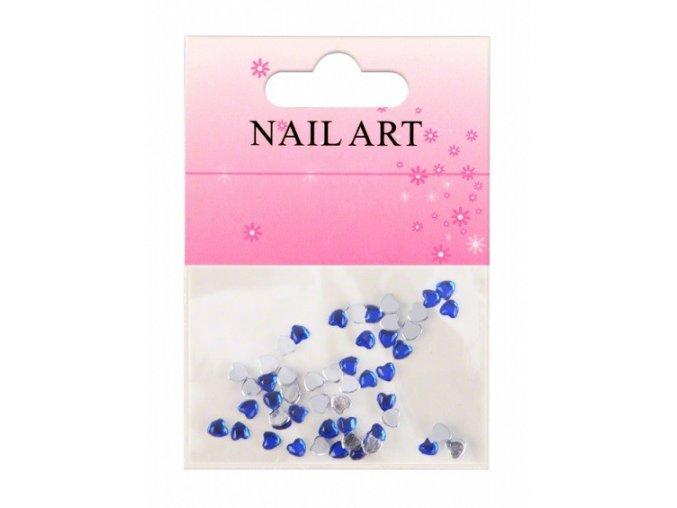 Zdobení nehtů srdíčka modré 50 ks