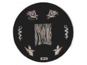 Destička na razítka E28