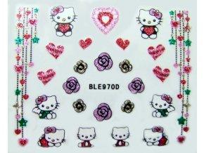Glitter nálepky - Hello Kitty
