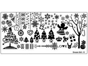 Destička medium DG11 - vánoční
