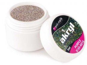 Barevný akryl, glitrový Purple 5ml