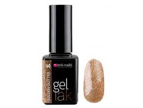 Glitter gel lak 11ml - golden glitter
