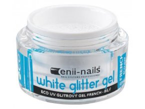 UV GEL french white glitter 10ml
