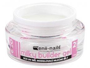 UV gel modelovací french mléčně bílý 10ml