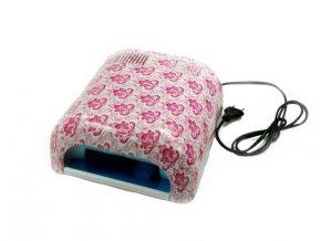 UV lampa bílo-růžová 36W