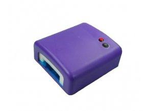 Fialová UV lampa - hranatý tunel