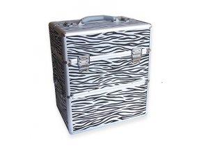 LCD kosmetický kufr - zebra