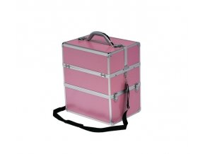 LCD kosmetický kufr, růžový - strip