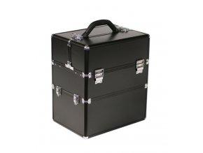 LCD černý kosmetický kufr