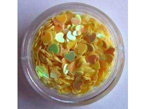 Zdobení nehtů srdíčka (žluté) 500ks