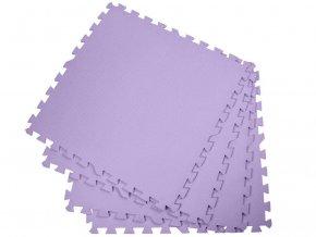 Podložka na cvičení - pěnový koberec - 60 x 60cm - 4 ks - fialový
