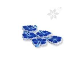 FIMO, modrá kytka 1kus