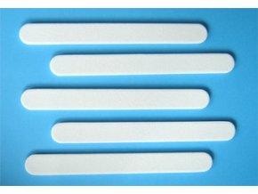 Pilník na nehty, rovný 80/80 bílý