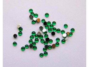 Zdobení nehtů kamínky zelené 35 kusů