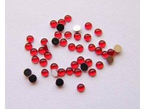 Zdobení nehtů kamínky červené 35 kusů