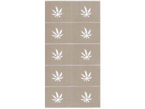 Zdobící šablona - marihuana