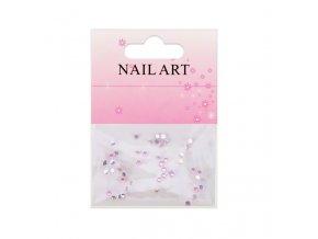 Barevné kamínky na nehty, růžové 50 kusů