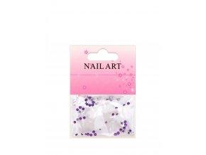 Fialové kamínky na nehty, 50 kusů