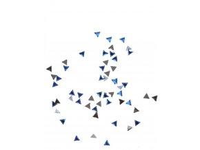 Zdobení nehtu, modré trojúhelníky, 50 ks