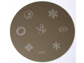 Destička na razítka H12
