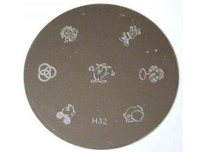 Destička na razítka H32