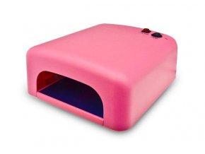 UV lampa na gelové nehty 36W - růžová