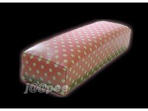 Podložka k modeláži nehtů, růžová s puntíky