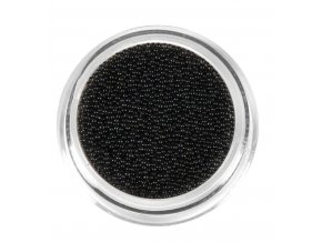 Perly na zdobení nehtů, černé